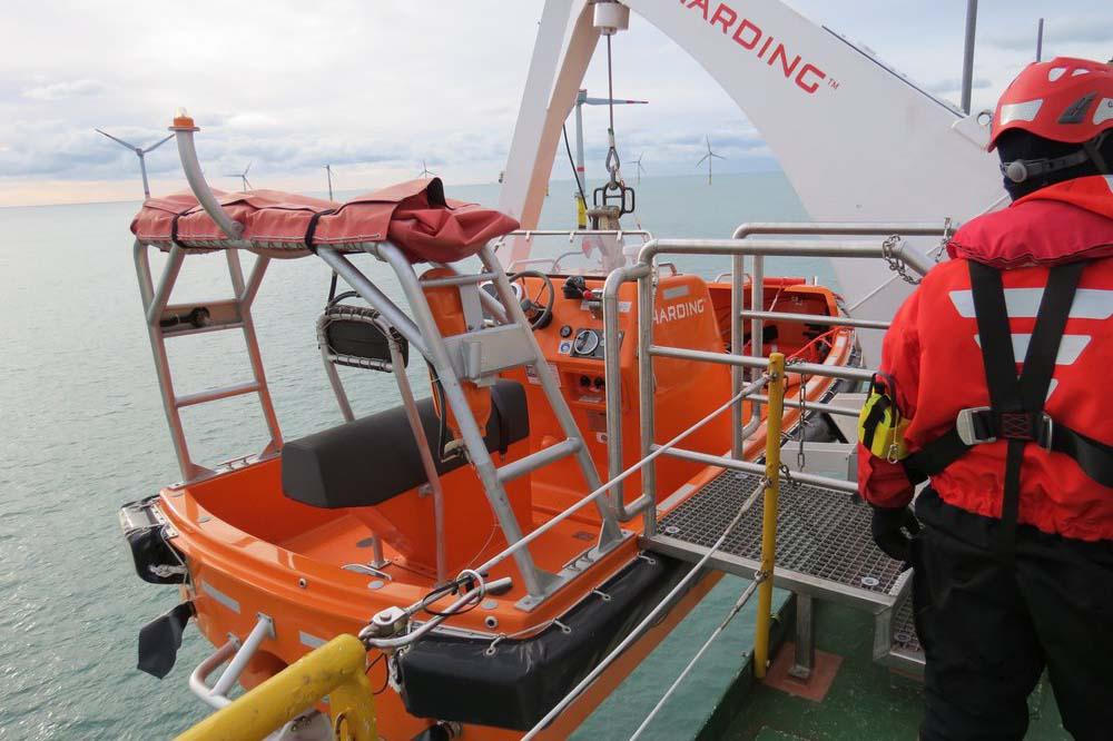 Das schnelle Fast Rescue Boat.
